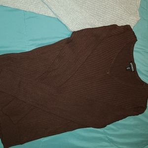 2 pack George sz L v-neck ribbed sweaters